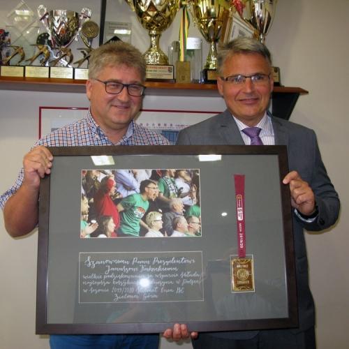 Prezydent Kubicki ze złotym medalem